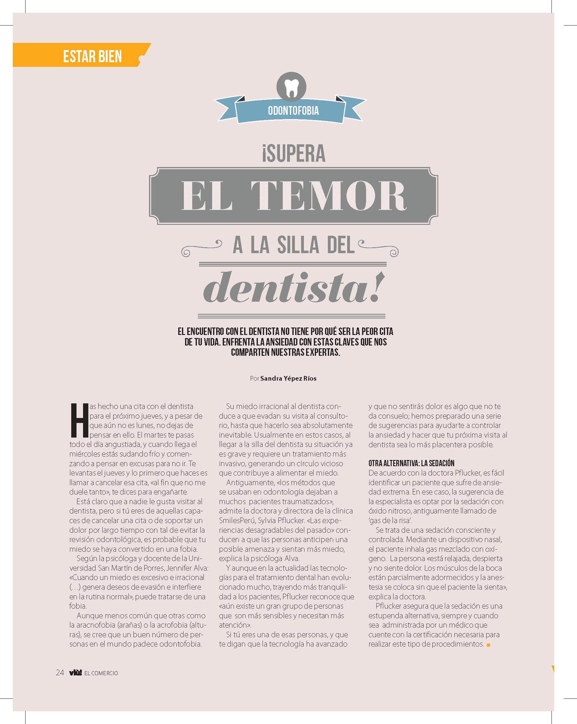 El Comercio Featuring Smiles Peru Nitrous Oxide